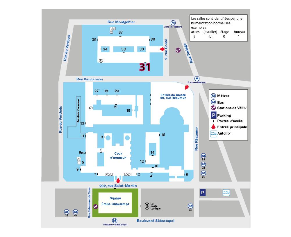 Paris 3e accès 31  plan